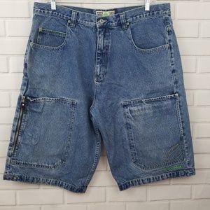 Pepe Jeans Light Wash Cotton Denim Shorts